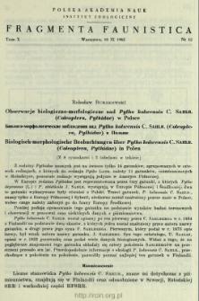 Materiały do znajomości rozmieszczenia chruścików (Trichoptera) w Polsce. II