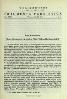 Mszyce (Homoptera, Aphidodea) Niziny Wielkopolsko-Kujawskiej II