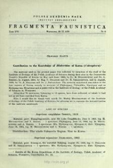 Materiały do poznania Sphaeritidae i Histeridae (Coleoptera) Polski