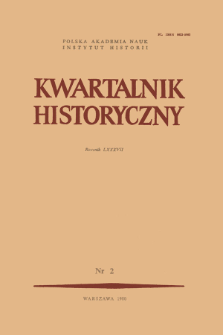 Kwartalnik Historyczny. R. 87 nr 2 (1980), Title pages, Contents