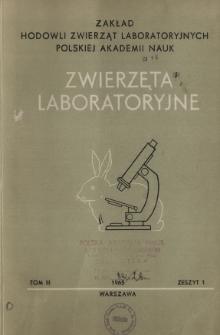 Zwierzęta laboratoryjne, Tom III zeszyt 1 = Laboratory animals
