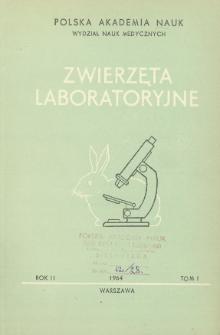 Zwierzęta laboratoryjne, Rok II Tom I = Laboratory animals