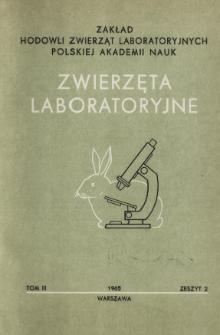 Zwierzęta laboratoryjne, Tom III zeszyt 2 = Laboratory animals