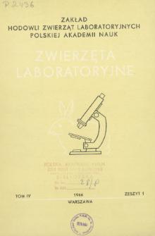 Zwierzęta laboratoryjne, Tom IV zeszyt 1 = Laboratory animals