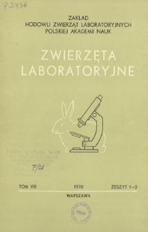 Zwierzęta laboratoryjne, Tom VIII zeszyt 1-2 = Laboratory animals