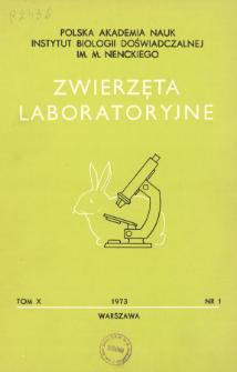 Zwierzęta laboratoryjne, Tom X zeszyt 1 = Laboratory animals