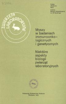 Zwierzęta laboratoryjne, Tom XV zeszyt 1 = Laboratory animals