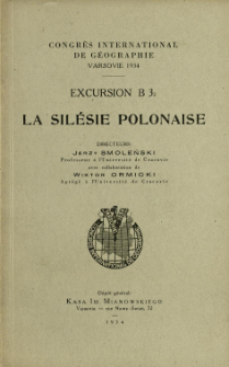 Congrès International de Géographie, Varsovie. Excursion B 3.2, La Silésie Polonaise