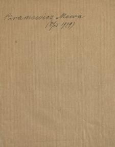 Mowa W Dzien Rocznicy Otwarcia Towarzystwa Do Ksiąg Elementarnych Na Sessyi Dnia 8. Marca Roku 1779