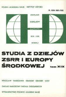 Studia z Dziejów ZSRR i Europy Środkowej. T. 19 (1983), Życie naukowe