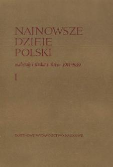 """Plan pierwszej części IV tomu """"Historia Polski"""""""