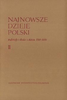 XXII Kongres PPS (23-25 V 1931 r.) w relacji Komunikatu Informacyjnego Komisariatu Rządu w Warszawie