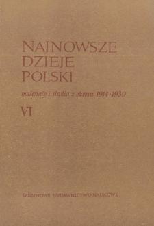 Najnowsze Dzieje Polski : materiały i studia z okresu 1914-1939 T. 6 (1963), Strony tytułowe, Spis treści