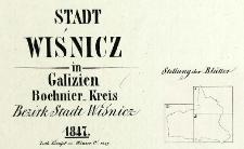 Stadt Wiśnicz in Galizien, Bochnier-Kreis Bezirk Stadt Wiśnicz 1847