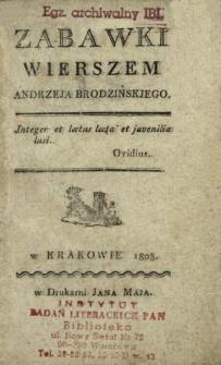Zabawki wierszem Andrzeja Brodzińskiego