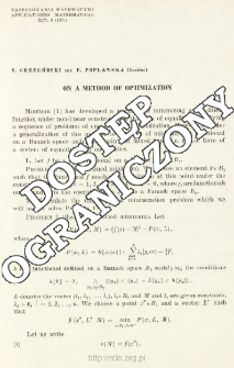 On a method of optimization