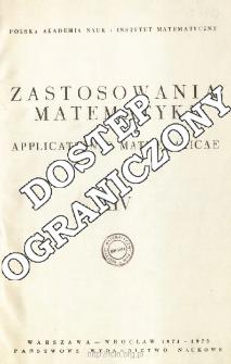 Zastosowania Matematyki = Applicationes Mathematicae, Spis treści i dodatki. T.14 (1974-1975)