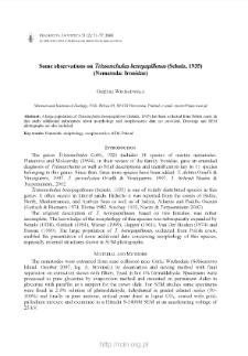 Some observations on Trissonchulus benepapillosus (Schulz, 1935) (Nematoda: Ironidae)