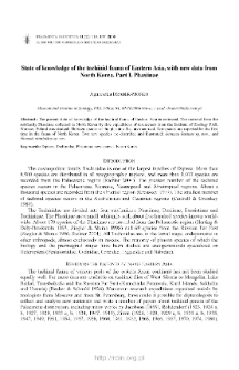 State of knowledge of the tachinid fauna of Eastern Asia, with new data from North Korea. Pt. 1, Phasiinae