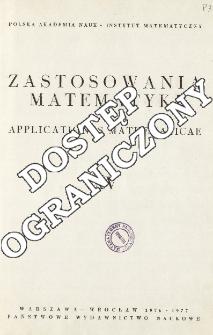 Zastosowania Matematyki = Applicationes Mathematicae, Spis treści i dodatki. T.15 (1976-1977)
