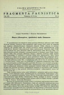 Mszyce (Homoptera, Aphidodea) okolic Chrzanowa