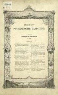 Dr Heinrich Berghaus' Physikalischer Atlas. Abt. 1, Meteorologie und Klimatographie : in 15 Blättern