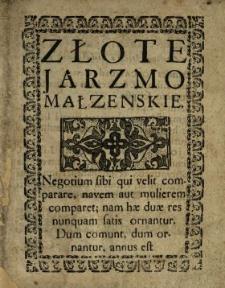 Złote Jarzmo Małzenskie
