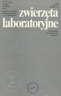 Zwierzęta laboratoryjne, Tom XX zeszyt 1-2Laboratory animals