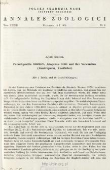 Pseudopilita Germain, Allogenes Gude und ihre Verwandten (Gastropoda, Zonitidae)
