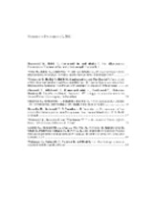 Fragmenta Faunistica - Spis treści vol. 56, no. 1