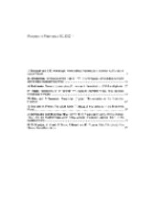 Fragmenta Faunistica - Spis treści vol. 50, no. 1