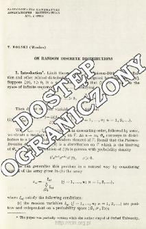 On random discrete distributions