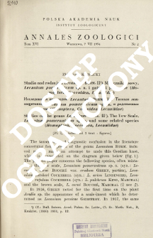 Studies on the genus Lecanium BURM. 2, The Yew Scale, Lecanium pomeranicum sp. n. and some related species (Homoptera, Coccoidea, Lecaniidae) : [Pl. I, 1 table and 3 text-figures]