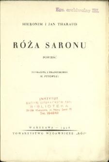 Róża Saronu : powieść