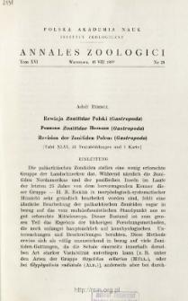 Revision der Zonitiden Polens (Gastropoda) : [Taf. XLVI, 51 Textabbildungen und 1 Karte]
