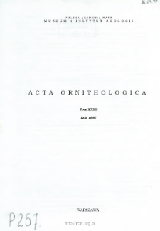 Acta Ornithologica ; vol. 37 - Spis treści