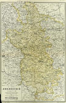 Karta lûblinskoj gubernii sostovlena soglasno novejšim dannym