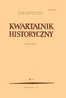 Kwartalnik Historyczny. R. 88 nr 1 (1981), Title pages, Contents
