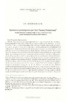 Dzieje Najnowsze : [kwartalnik poświęcony historii XX wieku] R. 31 z. 4 (1999), In memoriam