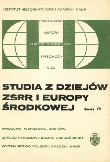 Studia z Dziejów ZSRR i Europy Środkowej. T. 7 (1971), Noty recenzyjne