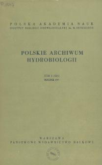 Polskie Archiwum Hydrobiologii, Tom I (XIV) = Polish Archives of Hydrobiology