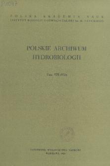 Polskie Archiwum Hydrobiologii, Tom VIII (XXI) = Polish Archives of Hydrobiology