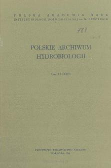 Polskie Archiwum Hydrobiologii, Tom IX (XXII) = Polish Archives of Hydrobiology