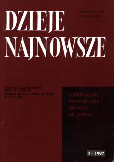 Dzieje Najnowsze : [kwartalnik poświęcony historii XX wieku] R. 29 z. 4 (1997), Życie naukowe