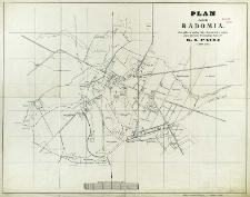 Plan miasta Radomia sporządzony podług zdjęć dokonanych z natury przez geometrę przysięgłego klasy 2-ej K. I. Pauli w 1899 roku