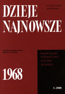 Dzieje Najnowsze : [kwartalnik poświęcony historii XX wieku] R. 40 z. 1 (2008)