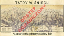 Tatry w śniegu : mapa narciarska północnych stoków Tatr