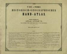 Atlas antiquus : XXVII tabulas coloribus illustratas et alias LXIV tabellas in margines illarum inclusas continens