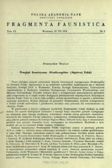 Przegląd faunistyczny Stratiomyidae (Diptera) Polski