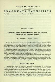 Zgrupowania małżów z rodzaju Pisidium sensu lato (Bivalvia) w różnych typach zbiorników wodnych